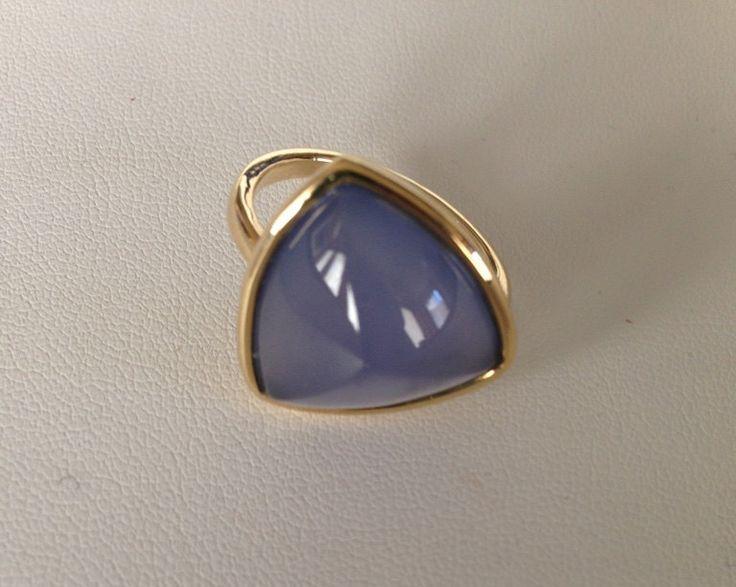Namibian Blue Chalcedony Ring di FedericaQuaglia su Etsy