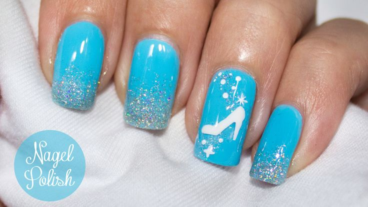 Inspired by the Disney classic :) Link (in German) with tutorial and video: http://www.nagelpolish.de/2015/03/cinderella-film-nagel-tutorial-disneys.html - Nailpolis: Museum of Nail Art