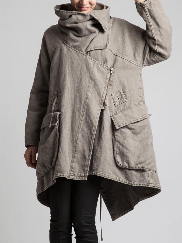 VERY THICK RUSTIC COTTON COAT WITH POLAR LINING - JACKETS, JUMPSUITS, DRESSES, TROUSERS, SKIRTS, JERSEY, KNITWEAR, ACCESORIES - Woman - Syngman Cucala & Lurdes Bergada - Shop Online