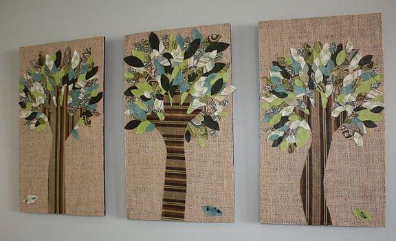 fabric handprint treesWall Art, Ideas, Trees Trunks, Hands Prints, Trees Art, Mod Podge, Kids Crafts, Families Trees, Hands Trees
