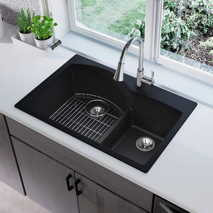Quartz Classic 33 L X 22 W Double Basin Drop In Kitchen Sink