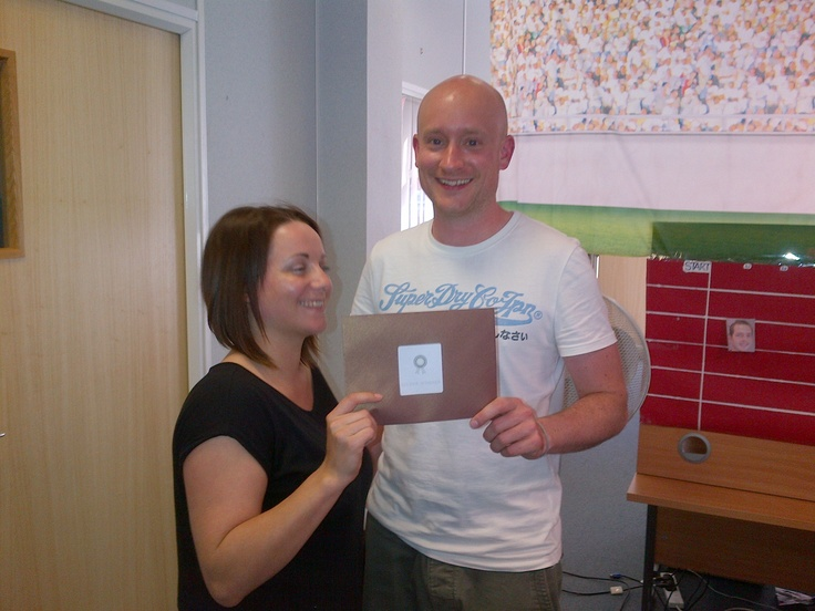 Search Consultant Matt Elvidge received the Silver prize in the 'Olympics in the Office' Challenge