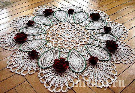 Салфетка крючком | КРЮЧОК-ВЯЗАНИЕ | Pinterest | Crochet Doilies ...