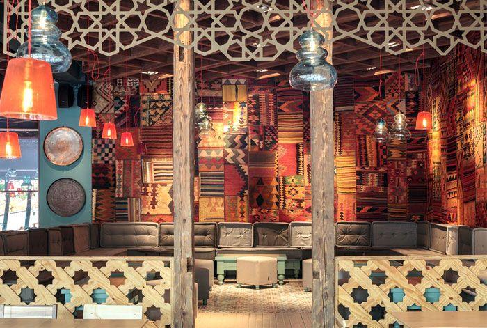 interior decorative cooper elements walls