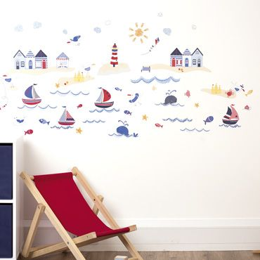 Nautical Scene Wall Stickers, Nursery Collection In Nautical, Shop By Nursery Theme, Nursery