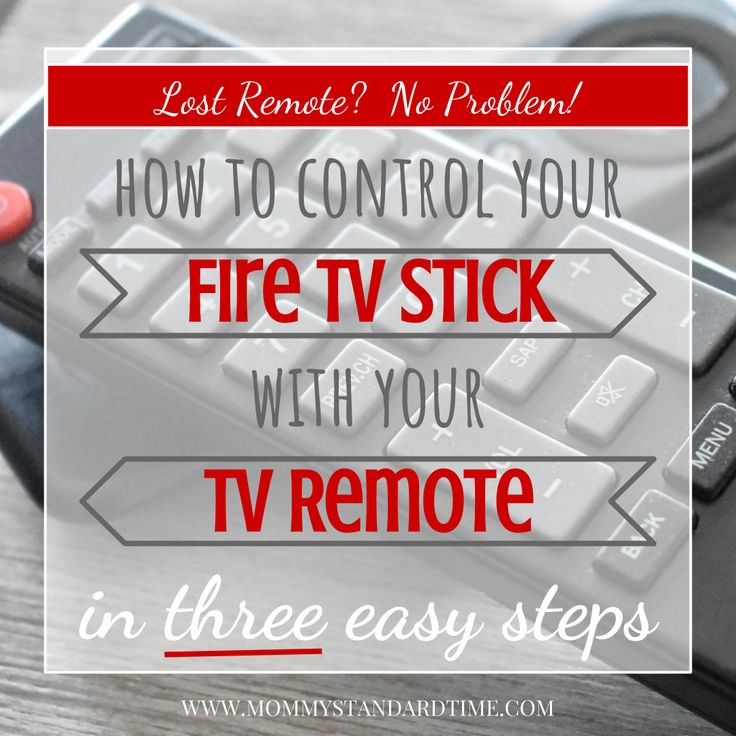 How to control your fire tv stick with your tv remote