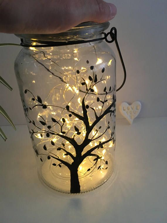 Lantern tree hand painted solar powered lantern lantern