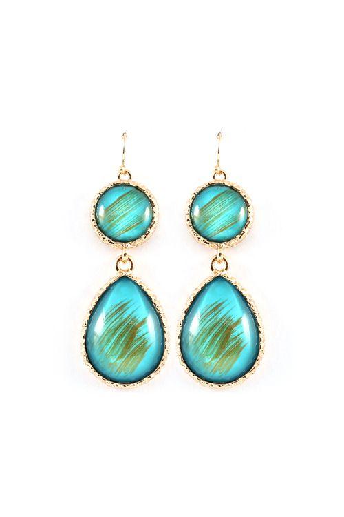 Billie Earrings in Turquoise