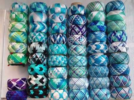 Yubinuki thimble rings in shades of blue