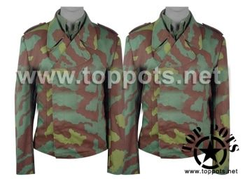 Reproduction WWII German SS Italian Camouflage Panzer Wrap Uniform Tunic World War 2 Two WW2 sale clothing cheap sale reenacting reenactment reenactor airsoft jacket