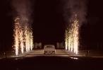 Amazing wedding exit!  Fireworks: Rapid Action Fireworks  Car: Allways Wedding Cars  Photography: Jess Marks Photography