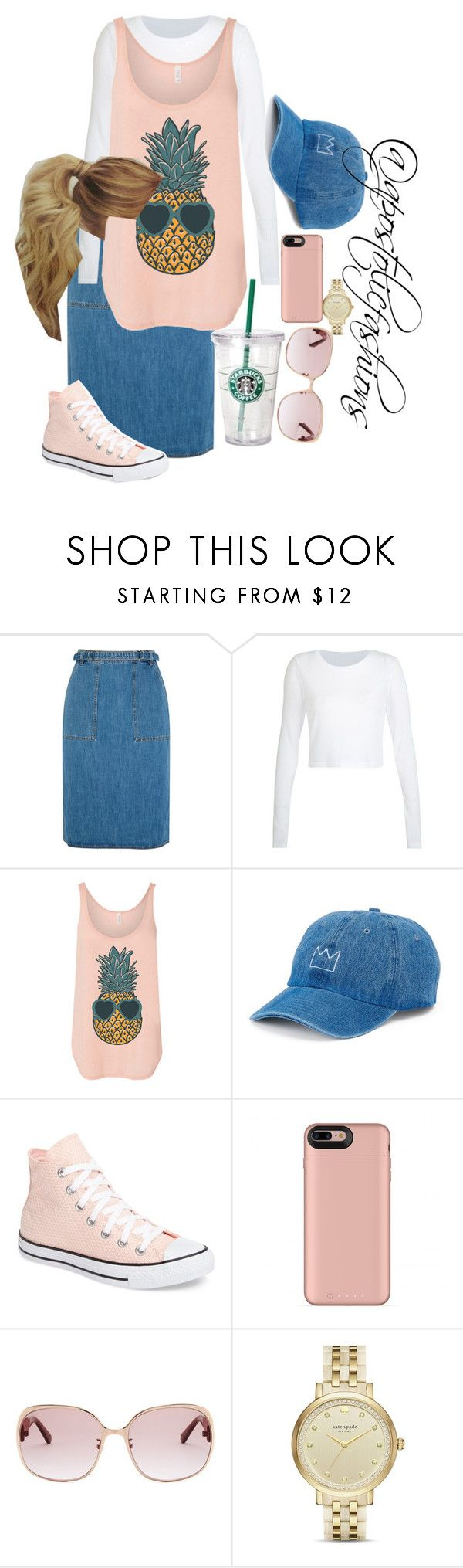 """Apostolic Fashions #1806"" by apostolicfashions ❤ liked on Polyvore featuring M.i.h Jeans, SO, Converse, Loewe and Kate Spade"