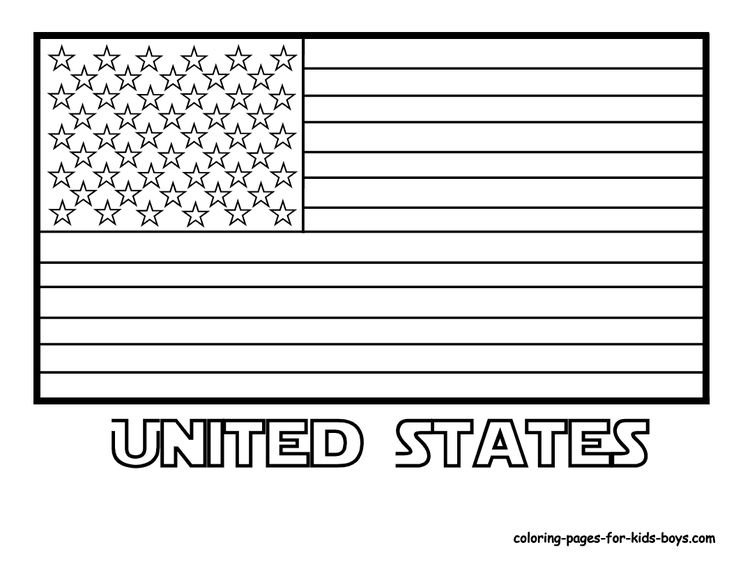 United States of America Flag Coloring