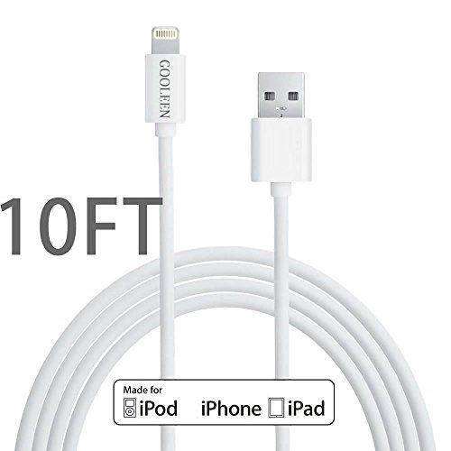 iPhone Charger, GOOLEEN 10FT Extra Long 8 pin Lightning t... https://www.amazon.com/dp/B01B7FQ2D0/ref=cm_sw_r_pi_awdb_x_OchnybR92WVG9