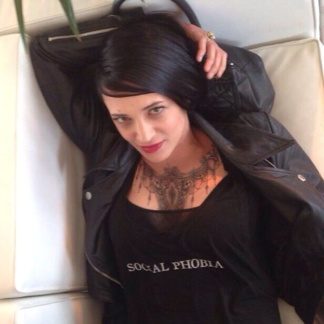 The Only One. Asia Argento in Black Social Phobia Tank Top <3  www.coreterno.com