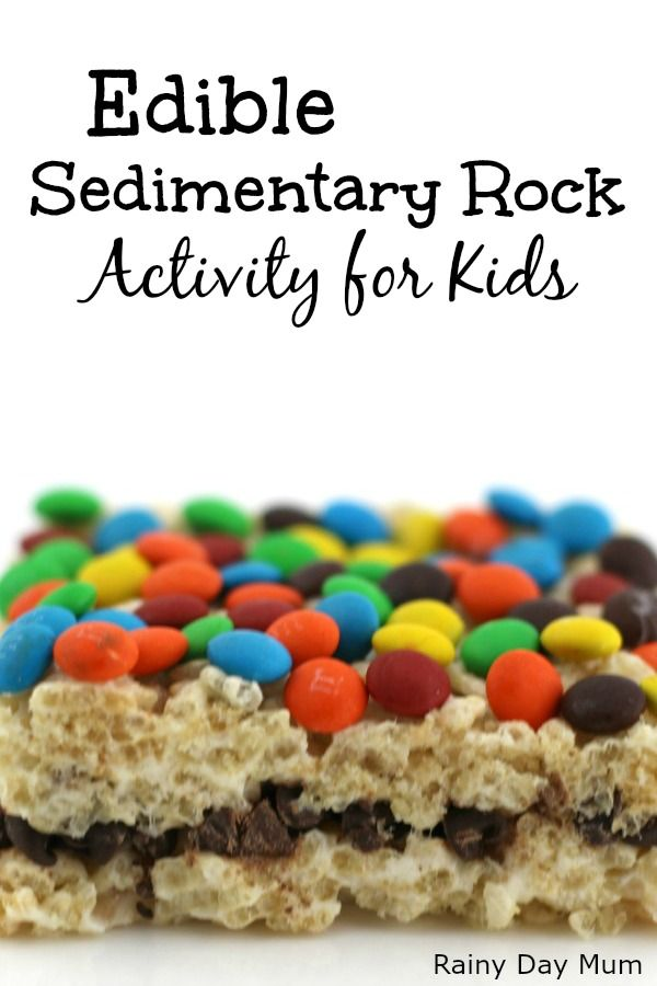 Help your children understand the formation of the different types of rocks with this simple edible sedimentary rock activity that they can make and eat. via @rainydaymum