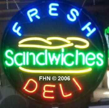 Another fresh deli sandwich neon sign from our signature round series.