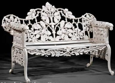 What Do You Know about Coalbrookdale Cast Iron?: Coalbrookdale Cast Iron Garden Bench, c. 1860-1900