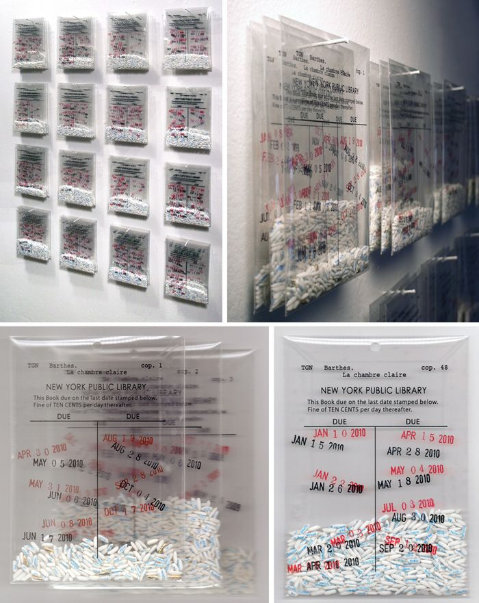 Trong G. Nguyen replicates entire books on kernels of rice, each kernel with one word, the books are divided in multiple clear mylar bags. Crazy!