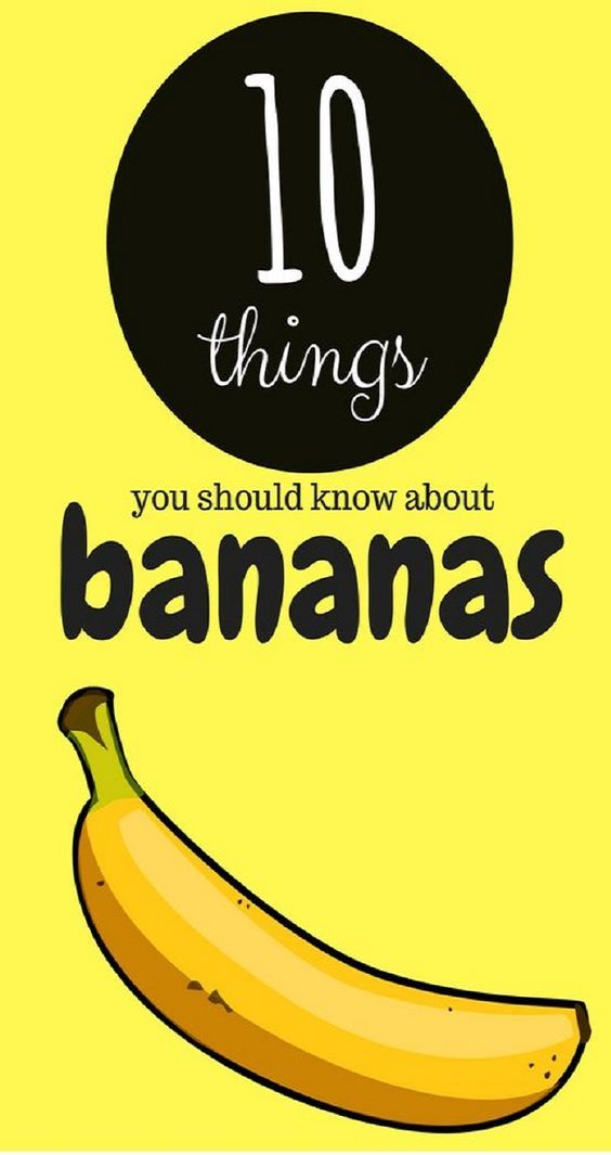 10 INTERESTING FACTS YOU SHOULD KNOW ABOUT EATING BANANAS!