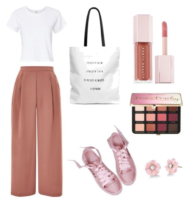 """Untitled #27"" by sofiaskvrekova on Polyvore featuring Topshop, RE/DONE, Puma, Sephora Collection and Irene Neuwirth"