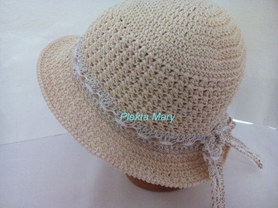 summer crochet hat cotton by CrochetMaryGR on Etsy