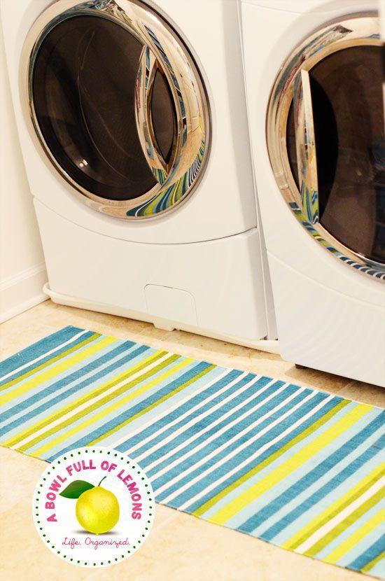Bright Rug For   Laundry Room Organization | A Bowl Full Of Lemons