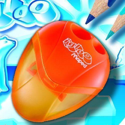 Maped Igloo tartályos ceruzahegyező 2 lyukas ceruza hegyező - Narancssárga Ft Ár 329