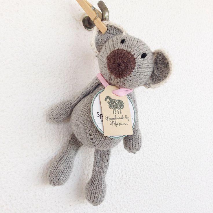 Em stock - peluche tricotado à mão - brinquedo bébé - quarto bébé - prenda bébé - Gilberto o Koala by crochetdadita on Etsy