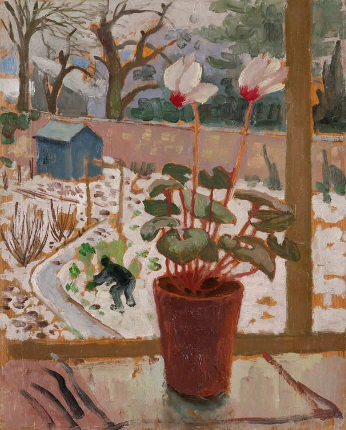 """View from the Window, Tillicoultry, 1956, oil on board, 17""""x14"""" Alberto Morrocco Found on openeyegallery.co.uk"""
