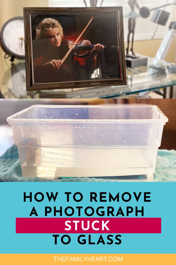 How to Remove a Photograph Stuck to Glass in 2020 How to