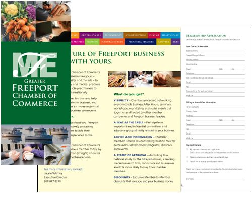 Tri Fold Brochure Design For The Freeport Chamber Of Commerce Uv