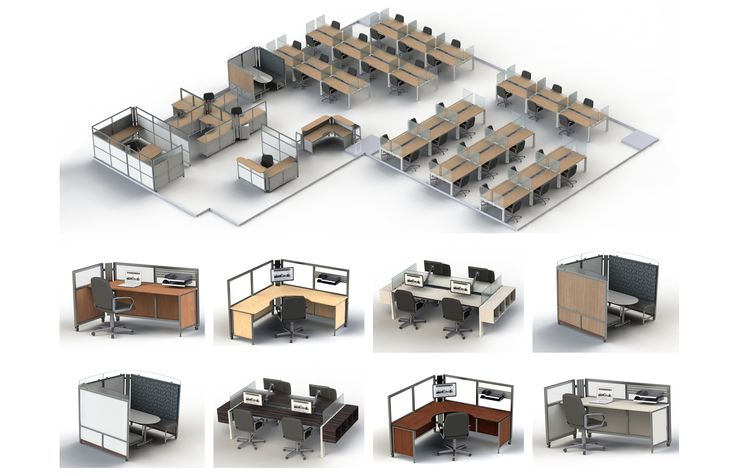 A variety of stations in a range of colours allow you to create an office space that is unique to your company.