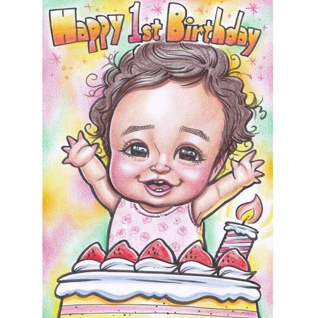 誕生日プレゼントに 似顔絵 イラスト 似顔絵 誕生日