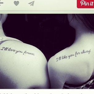 27 Heart-Melting Sister Tattoos. As long as I'm living, my sissy you'll be