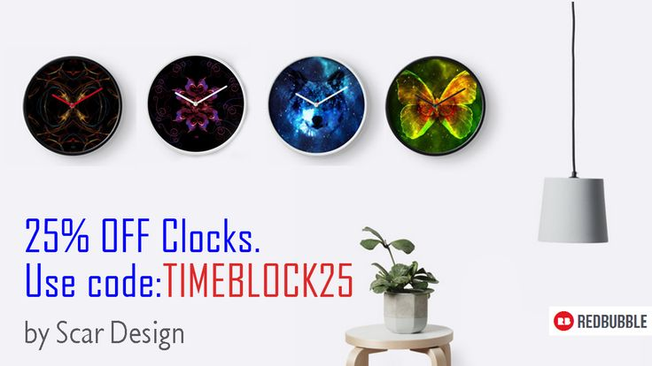 January 2017 discount by Scar Design. 25% OFF Wall Clocks.  Use code: TIMEBLOCK25 #2017sales #sales #JanuarySales #2017 #movies #moviegifts #discount #redbubble #gifts #wallclocks #clock #buyclock #coolclock #homedecor #homegifts #home #giftsforhim #giftsforher #kidsroom #livingroom #buywallclock #buycoolgifts