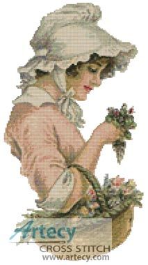 Victorian Flower - Cross Stitch Chart - Click Image to Close