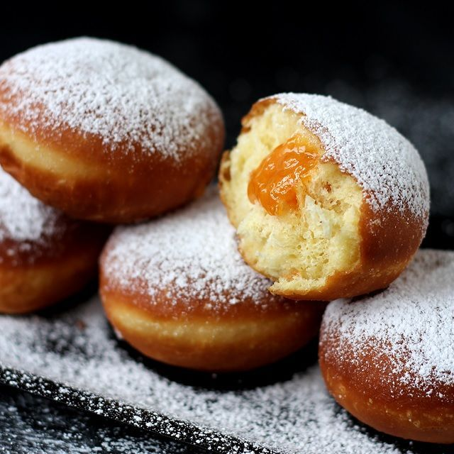"""These soft and fluffy Austrian-style donuts are eaten year round but are particularly popular during carnival season (""""Fasching"""") and on Fat Tuesday. Fat Tuesday (or Mardi Gras) is called """"Faschingsdienstag"""" in Austria and is the peak of carnival, reflecting the practice of the last day of eating richer, fatty foods before the ritual fasting starts on Ash Wednesday. And even though, most people don't fast any more, they do enjoy... continue reading »"""