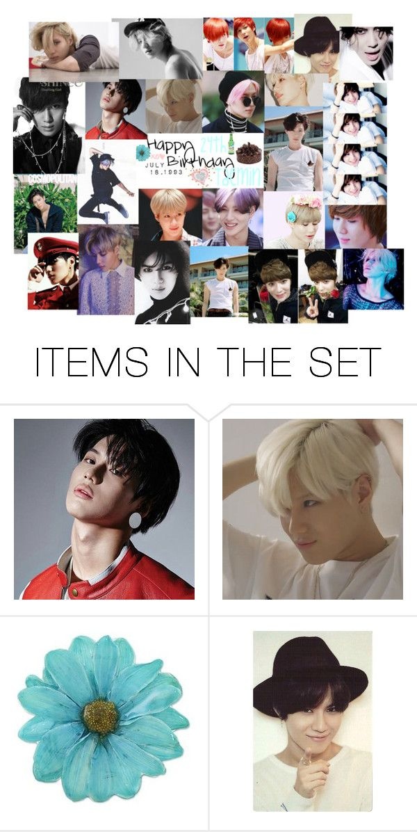 """""""Happy 24th Birthday Taemin"""" by carrie-lynn ❤ liked on Polyvore featuring art"""