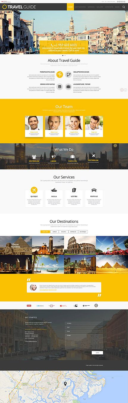 Web / Travel Guide website template #Front End #Engineering and #development