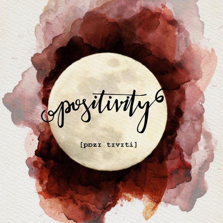 Lettering, Handlettering, Positivity