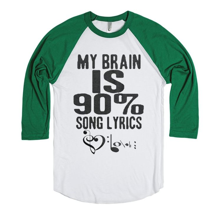 90% Song Lyrics - Music Shirts