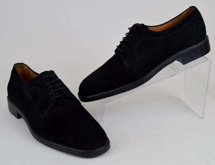 Salvatore Ferragamo Studio Black Suede Oxfords Men's Size 8 D  #SalvatoreFerragamo #Oxfords