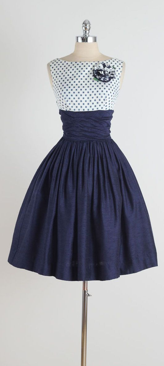 Gibson Dots . vintage 1950s dress . 1950s by millstreetvintage