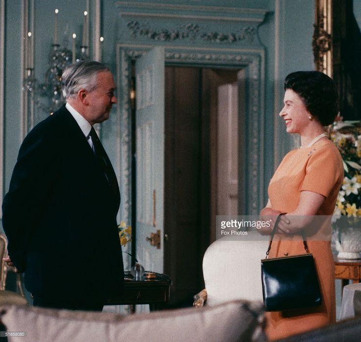 Queen Elizabeth II with British Prime Minister Harold Wilson (1916 - 1995), June 1969.