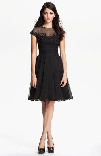 Ted Baker London Embellished Silk Fit & Flare Dress available at #Nordstrom