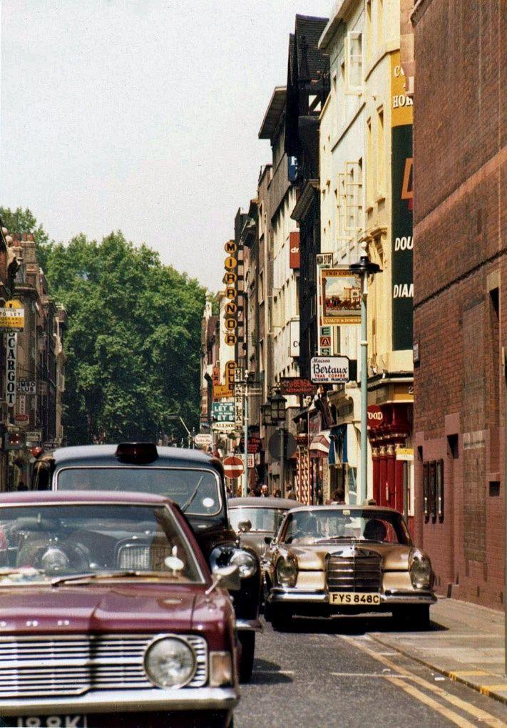 Greek Street, Soho, London, 1973.