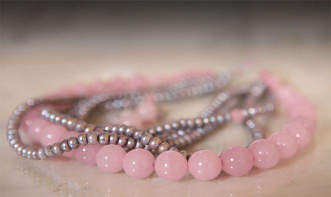 Cuarzo rosa y gris.