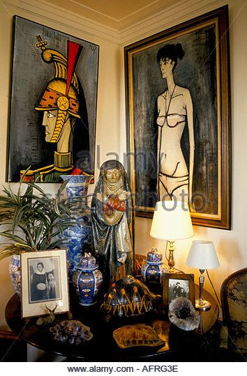 BERNARD BUFFET HOME INTERIOR PAINTINGS OBJET D ART FAMILY PHOTOGRAPHS RELIGIOUS…