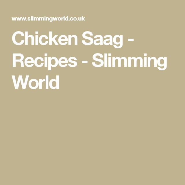 Chicken Saag - Recipes - Slimming World